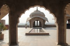 Stone arch on pillars of a fort Royalty Free Stock Photography