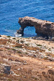 The stone arch of Ras il-Hamrija, Malta Royalty Free Stock Image