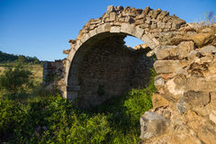 Stone arch remains of a vault Royalty Free Stock Image