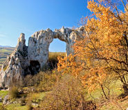 Stone arch on a top of the hill. Rekavice, Republika Srpska, Bosnia Stock Photography