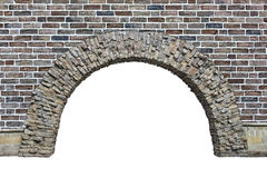 Stone arch in the wall isolated on white background. Stone arch in the wall  isolated on white background Royalty Free Stock Image