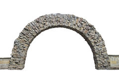 Stone arch in the wall isolated on white background. Stone arch in the wall  isolated on white background Stock Photo