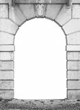 Stone arch white isolated Stock Photography