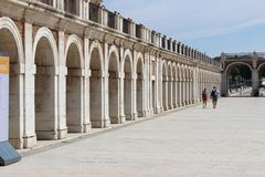 Stone arches in Aranjuez, Spain royalty free stock photos