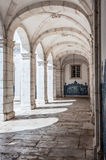 Stone arches in the Monastery of St. Vincent Outside the Walls i Stock Photography