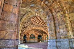 Stone arches Penn Station royalty free stock image