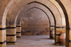 Stone Arches on Turkish Caravansary Stock Image