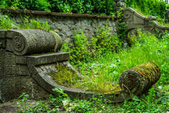 Stone architectural detail. Stone architectural detail in old garden Stock Photography