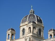 Stone architecture of house facades and monuments, Vienna, Austria.  stock photos
