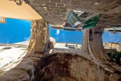 Stone architecture of Split old city center Stock Photo