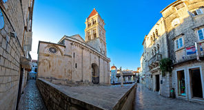 Stone architecture of UNESCO town Trogir royalty free stock image