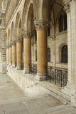 Stone archway with columns. In old building Royalty Free Stock Image