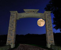 Stone Archway In The Moonlight Royalty Free Stock Image