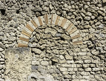 Stone Archway in Pompeii Italy. Photograph of a stone archway found in Pompeii. Copy space available royalty free stock photos