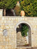 Stone Archway and Steps Royalty Free Stock Photography