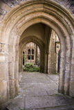 Stone archway in Wells, Somerset Royalty Free Stock Images
