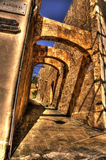Stone Archways in Mdina Stock Photo