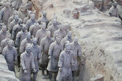 Stone army soilders statue, Terracotta Army in Xian, China Stock Image