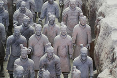 Stone army soilders statue, Terracotta Army in Xian, China Stock Photography