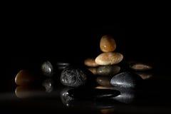 Stone arrangement. Beautiful arrangement of stone on dark background Stock Images