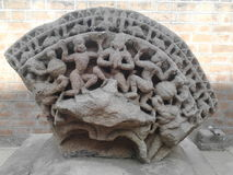 Stone art. Awesome ancient art piece of stone carving in ahemdabad Stock Image