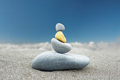 Stone art background of Buddhist rock tower Royalty Free Stock Photos