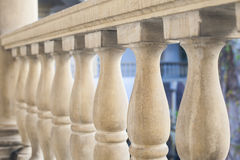 Stone art baroque baluster and staircase Royalty Free Stock Photo