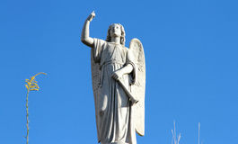 Guardian angel statue against the blue sky Royalty Free Stock Photos