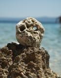 Stone as a human head Stock Photo
