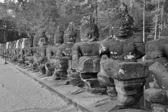 Stone Asura demon Stock Image