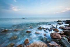 Stone At Beach Stock Photo