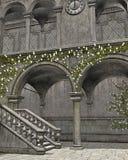 A stone atrium Stock Images