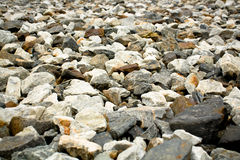 Stone backbround. Background of many stone of different colors stock photography