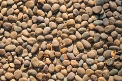 Stone background. Texture background image of rocks on the floor in the afternoon stock photos
