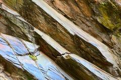 Stone background. Part of stone hillside in small city Saarburg, Rheinland-Pfalz, Germany Stock Photos