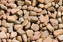 Stone background. Pile of stones of different sizes background Stock Images