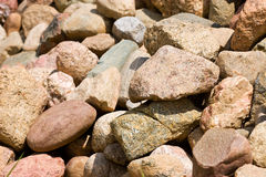 Stone background. Pile of stones of different sizes background Royalty Free Stock Images