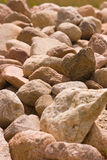 Stone background. Pile of stones of different sizes background Royalty Free Stock Image