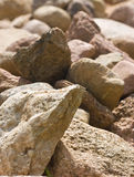 Stone background. Pile of stones of different sizes background Stock Photo