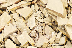 Stone Background. In brown shade many small pieces Royalty Free Stock Photo