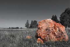 Stone and gradient sky royalty free stock photography