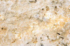 Stone Background. Natural stone layer in bright colors with holes Stock Photography