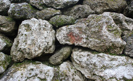Stone background. This is a part of old masonry. Nice background for designing Royalty Free Stock Photography