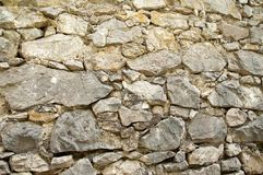 Old stone gray wall, close-up. Stone background. Stone background. Stone, old, beige grey white wall close-up. Close-up of weathered stone wall Royalty Free Stock Image