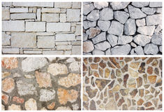 Stone background texture collage Royalty Free Stock Images