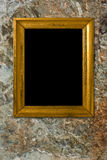 Stone background with vintage frame Stock Image