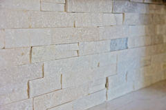 Stone backsplash Stock Image