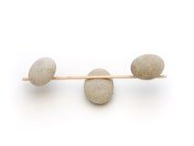 Stone Balance. On white background Stock Photo