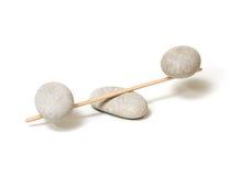 Stone Balance. On white background Royalty Free Stock Images