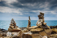 Stone balance. Koh Samet in Rayong Thailand Royalty Free Stock Photography